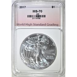 2017 AM. SILVER EAGLE, WHSG PERCECT GEM