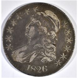 1826 BUST HALF DOLLAR, XF