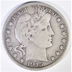 1915-S BARBER HALF DOLLAR  CHOICE VF
