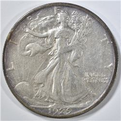 1929-S WALKING LIBERTY HALF DOLLAR XF
