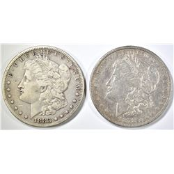 1878-S XF & 83-S VF MORGAN DOLLARS