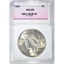 1926 PEACE DOLLAR, PNA GEM BU