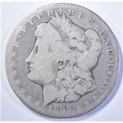 1892-CC MORGAN DOLLAR, GOOD
