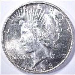 1923-D PEACE DOLLAR, CH BU