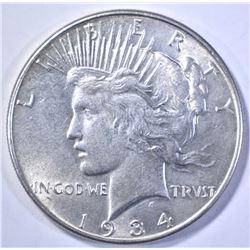1934 PEACE DOLLAR, NICE BU