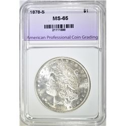 1878-S MORGAN DOLLAR APCG GEM BU