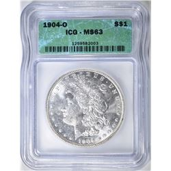 1904-O MORGAN DOLLAR, ICG MS-63