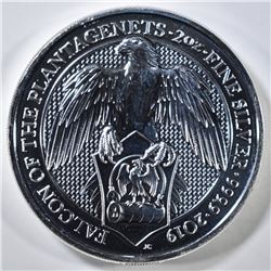 "2019 QUEENS BEAST 2-OUNCE SILVER ""FALCON"""