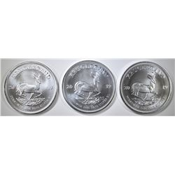 3-2019 S. AFRICA ONE OUNCE SILVER KRUGERRANDS