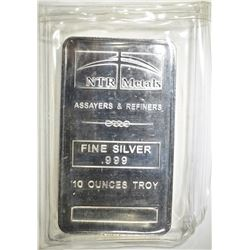 TEN OUNCE .999 SILVER BAR NTE METALS