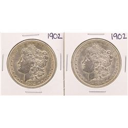 Lot of (2) 1902 $1 Morgan Silver Dollar Coins