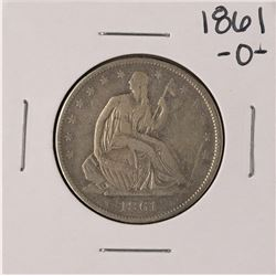 1861-O Seated Liberty Half Dollar Coin
