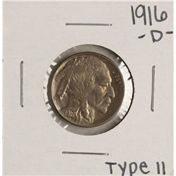 1916-D Type II Buffalo Nickel Coin