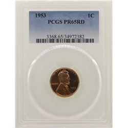 1953 Lincoln Wheat Cent Proof Coin PCGS PR65RD
