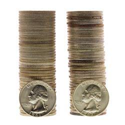Lot of 1961-D & 1962-D Brilliant Uncirculated Washington Quarter Coin Rolls