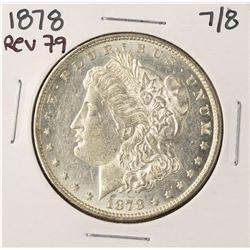1878 7/8 $1 Morgan Silver Dollar Coin