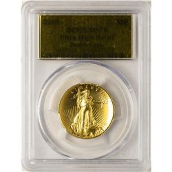 2009 $20 Ultra High Relief Double Eagle Gold Coin PCGS MS70 Gold Foil Label