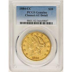 1884-CC $20 Liberty Head Double Eagle Gold Coin PCGS AU Details