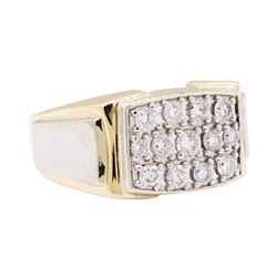 14KT Yellow and White Gold 1.07 ctw Diamond Ring