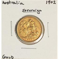 1902 Australia Sovereign Edward VII Gold Coin