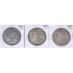 Lot of (3) 1896-O $1 Morgan Silver Dollar Coins