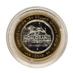.999 Fine Silver MGM Grand Las Vegas $10 Limited Edition Gaming Token
