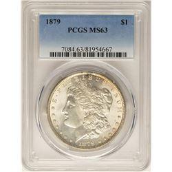 1879 $1 Morgan Silver Dollar Coin PCGS MS63