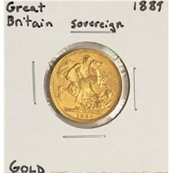 1889 Great Britain Sovereign Gold Coin