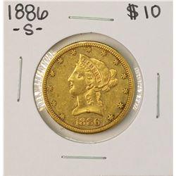 1886-S $10 Liberty Head Eagle Gold Coin