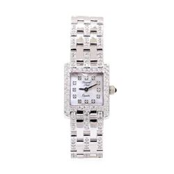 Gerard Petit Ladies 14KT White Gold 1.90 ctw Diamond Wristwatch