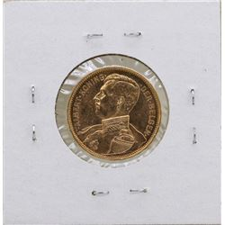 1914 Belgium King Albert 20 Francs Gold Coin