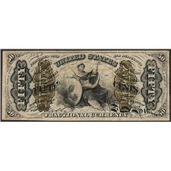 March 3, 1863 Fourth Issue Fifty Cents Spinner Fractional Currency Note