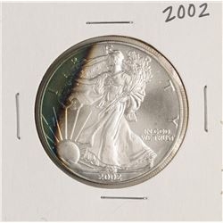 2002 $1 American Silver Eagle Coin Amazing Toning