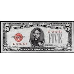 1928F $5 Legal Tender Note Red Seal
