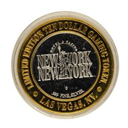 .999 Fine Silver New York New York Las Vegas, Nevada $10 Limited Edition Gaming