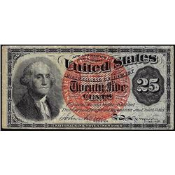 March 3, 1863 Fourth Issue Twenty Five Cent Fractional Currency Note