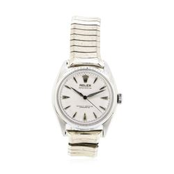 Stainless Steel Men's Rolex Oyster Perpetual Wristwatch