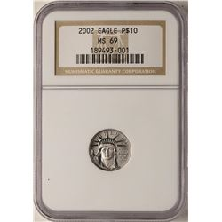 2002 $10 Platinum American Eagle Coin NGC MS69