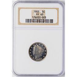 1902 Proof Liberty Nickel Coin NGC PF65