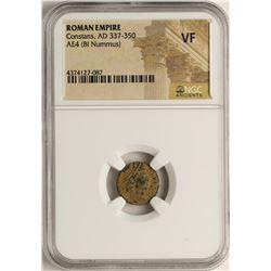 Constans, 337-350 AD Ancient Roman Empire Coin NGC VF