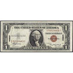 1935A $1 Silver Certificate WWII Emergency Hawaii Note