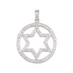 18KT White Gold 1.00 ctw Diamond Pendant