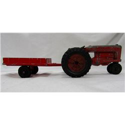 VINTAGE HUBLEY KIDDIE TOY FARM TRACTOR AND TRAILER