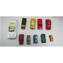 VINTAGE DIECAST TOY CARS LOT (10)