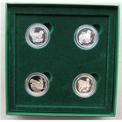 1997 CANADA'S BEST FRINEDS 4 COIN STERLING PROOFS
