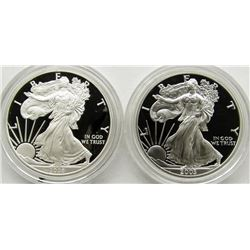 2003 & 2008 PROOF AM SILVER EAGLES