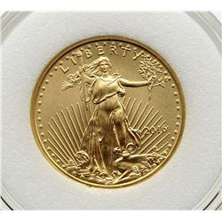 2016 1/10 ounce Fine Gold Five Dollar $5 Eagle