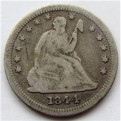 1844-O SEATED QUARTER