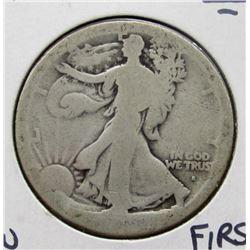 1916-S WALKING LIB HALF DOLLAR