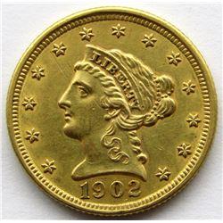 1902 $2.5 DOLLAR LIBERTY HEAD GOLD QUARTER EAGLE